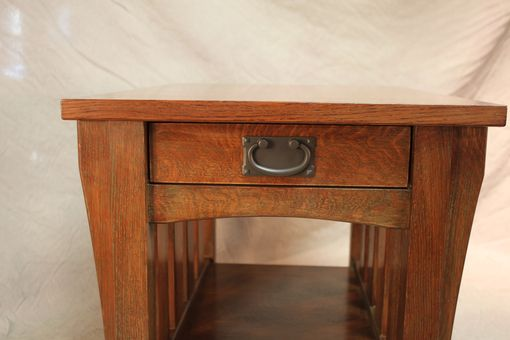 Custom Made Stickley Style Oak End Table