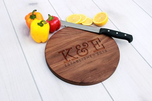 Custom Made Personalized Cutting Board, Engraved Cutting Board, Custom Wedding Gift – Cbr-Wal-K&E