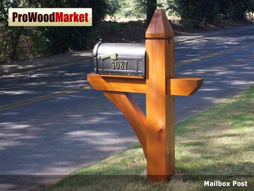 Custom Made Cedar Mail Post