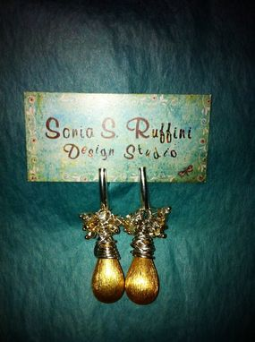 Custom Made Silver & Gold Nugget Earrings