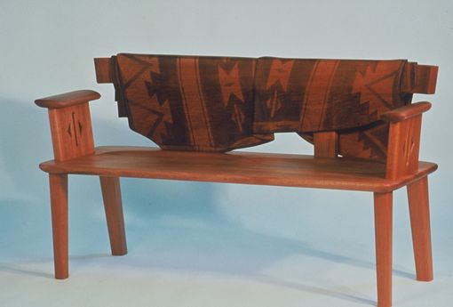 Custom Made Bench With Hopi Blanket