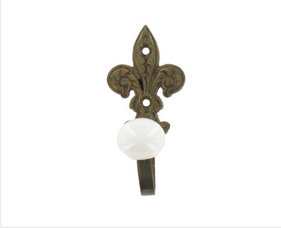 Custom Made Antique Bronze Fleur-De-Lis Hook