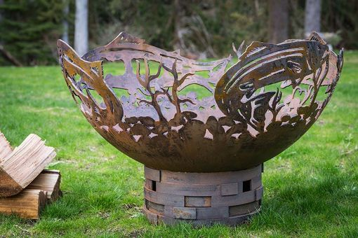 Custom Made Salmon Fire Pit