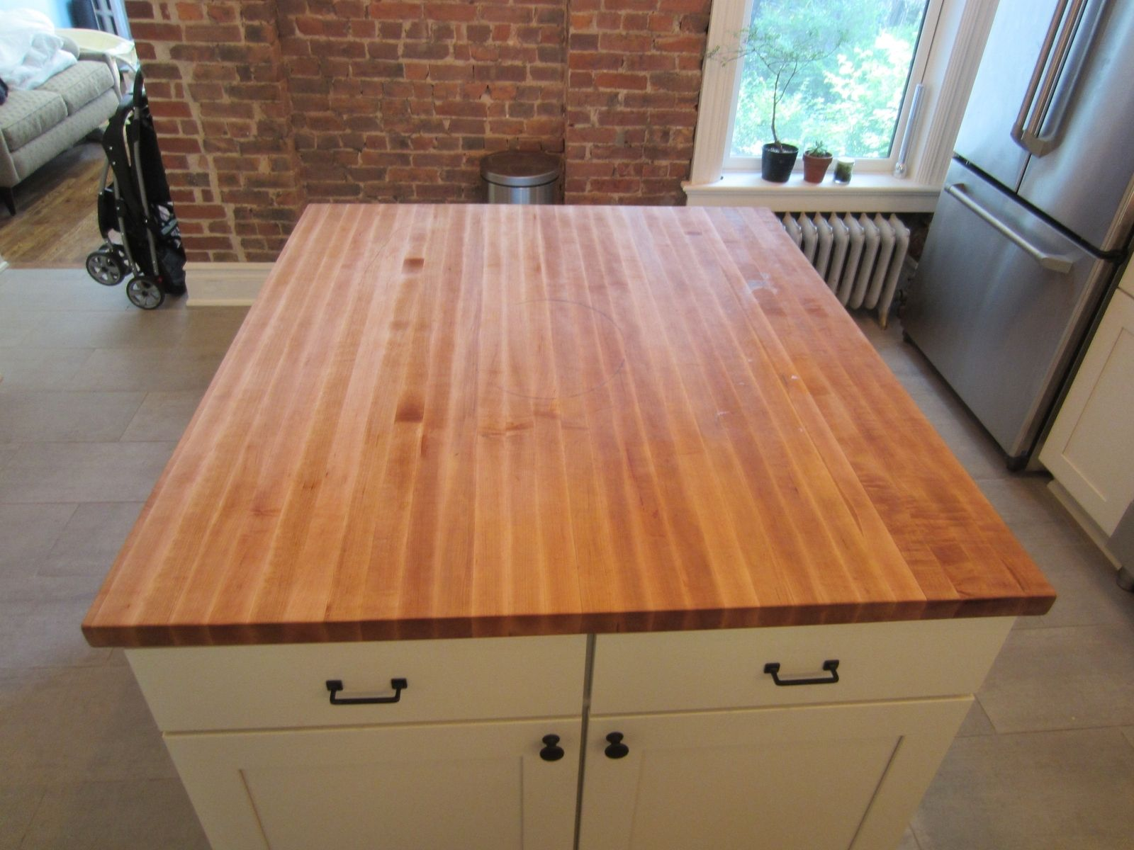 Kitchen Island Tops | Custom Butcher Block Kitchen Island Top By Elias Custom Furniture