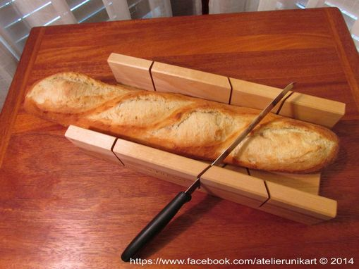 Custom Made Wooden Miter Bread Cutter