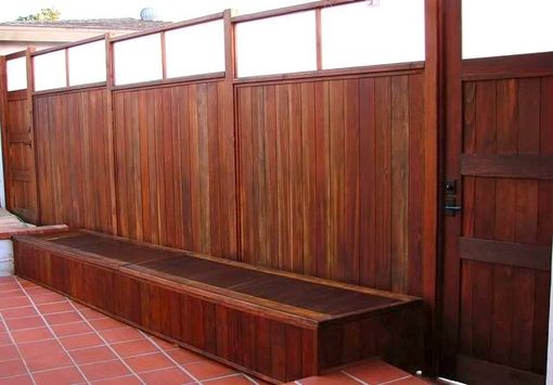 Custom Made Storage Benches, Custom Gates, Custom Wood Fence