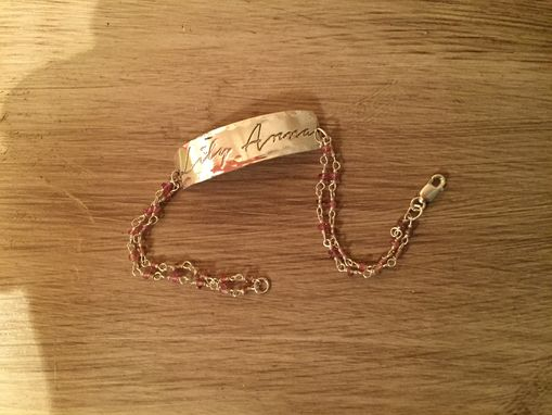 Custom Made Baby Identification Bracelet