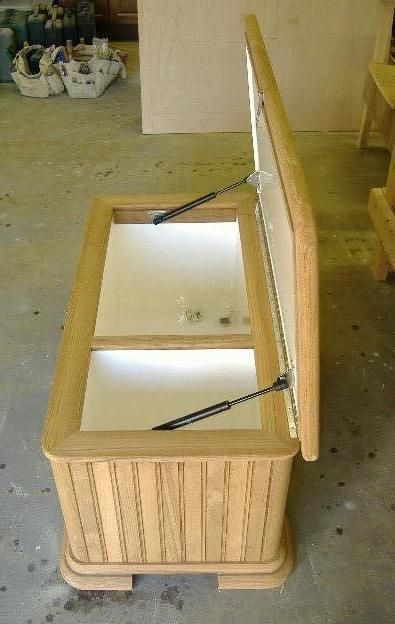Custom Made Teak Ice Chest By Bohnhoff Woodworking