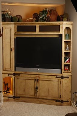 Hand Made Rustic Entertainment Center By Studio Wetz Custommade Com