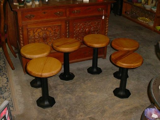 Custom Made Sold Heart Of The Cypress Soda Fountain Bar Stools 14