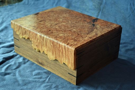 Custom Made Jewelry Box With Maple Burl