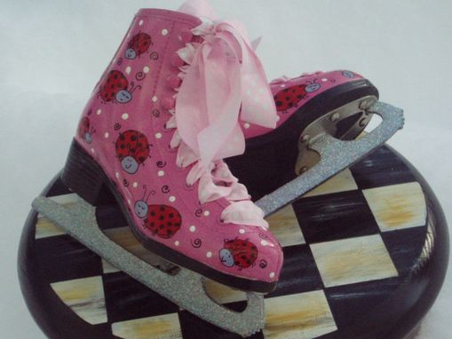 Custom Made Hand Painted Ice Skates - Custom - Pair