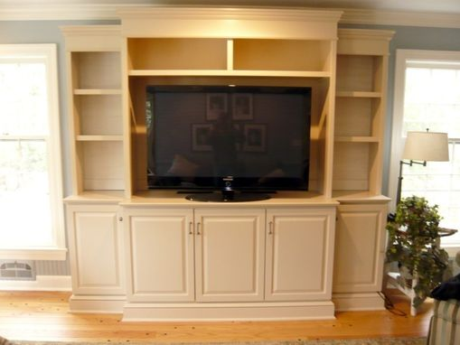 Hand Made Traditional Painted Entertainment Wall Unit By