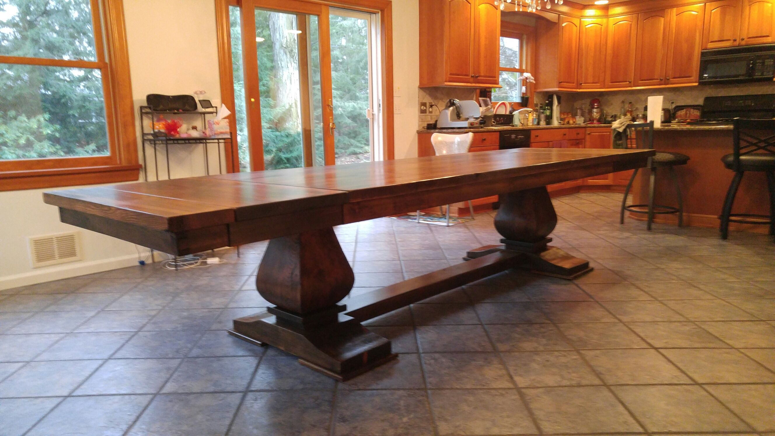 Custom Extendable 9ft 12ft Hand Crafted Dining Table