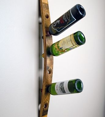 Custom Made Banded Wall Wine Rack