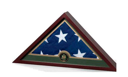Custom Made Military Frame, Military Flag Display Case