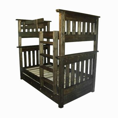 Custom Made Mission Style Bunk Beds With Storage