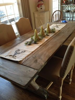 Custom Made Fancy X Farmhouse Table With Extensions, Extending Dining Table, Farmhouse Dining Table