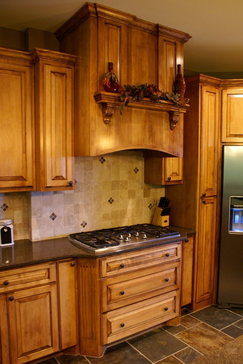 Handmade Glazed Maple Kitchen by Bergstrom Cabinets Inc ...