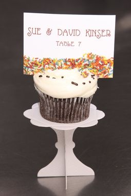 Custom Made Wedding Place Cards - Cupcake Sprinkle Tag - Escort Cards Favor Tag Custom Designed