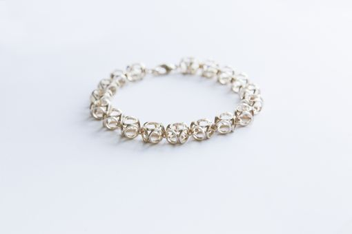 Custom Made Sterling Silver Or 14k Yellow Or Rose Gold Round Cube Bracelet