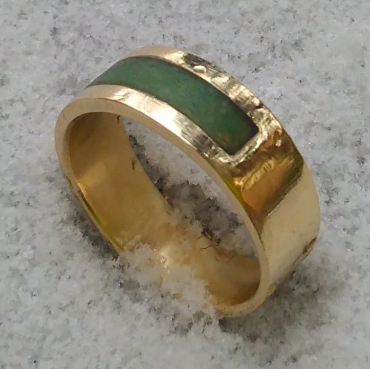 custom made gold jade wedding band - Jade Wedding Ring