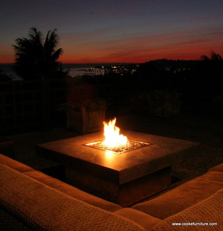 Custom Montecito Fire Pit Table By Cooke Furniture