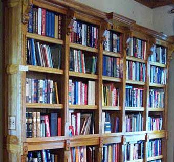 Custom Made Wall To Wall Bookcases