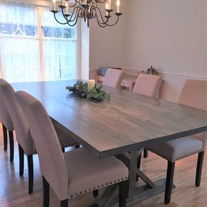 Rustic Farm Trestle Dining Table