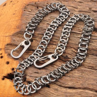 Custom Made Titanium Chainmail Wallet Chain