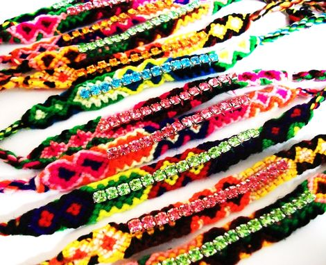 Custom Made Rhinestones Friendship Bracelets