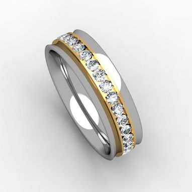 Custom Made Two Tone Eternity Ring