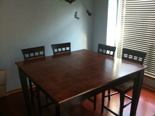 Custom Made Square Counter Height Dining Table 60w X 60dx36h