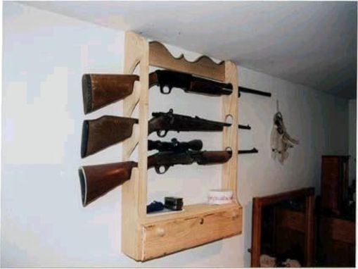 Custom Made 3-Gun Lockable Gun Display Rack