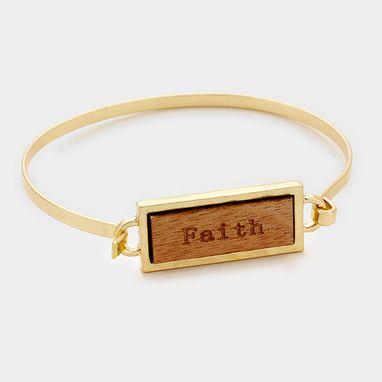 Custom Made Inspirational Bar Bracelet Faith