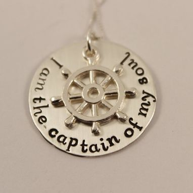 Custom Made I Am The Captain Of My Soul - Sterling Silver Necklace