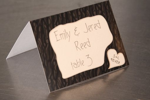 Custom Made Forest Of Love - Initial Carving Place Cards - Escort Cards
