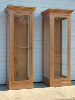 Custom Made Oak Display Towers