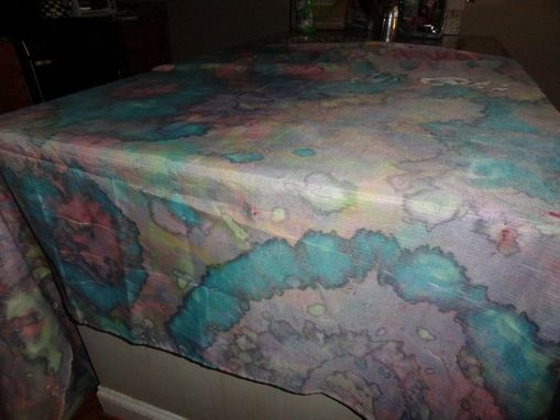 Custom Made Tie Dyed Tablecloth