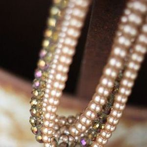 Custom Made Lap Of Luxury ~ Champagne Layered Pearl Necklace