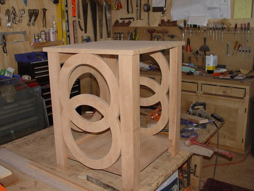 Custom Made MAHOGANY CIRCLE NIGHT STAND
