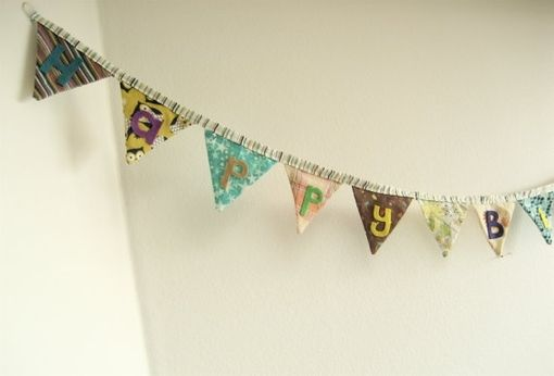 Custom Made Happy Birthday Or Home Decor Banner