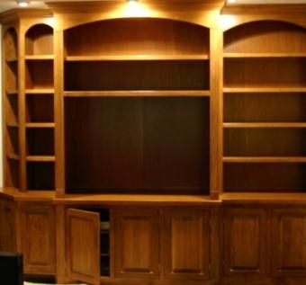 Custom Made Stained Corner Cabinet