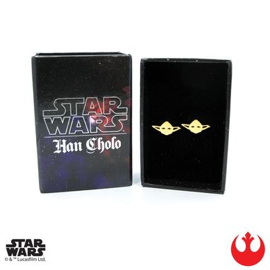 Custom Made Yoda Stud Earrings - Precious Metals