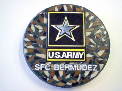 Custom Made Us Army  Garden Stone Personalized, Made To Order