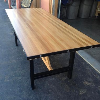 Custom Made Butcher Block Conference Communal Table
