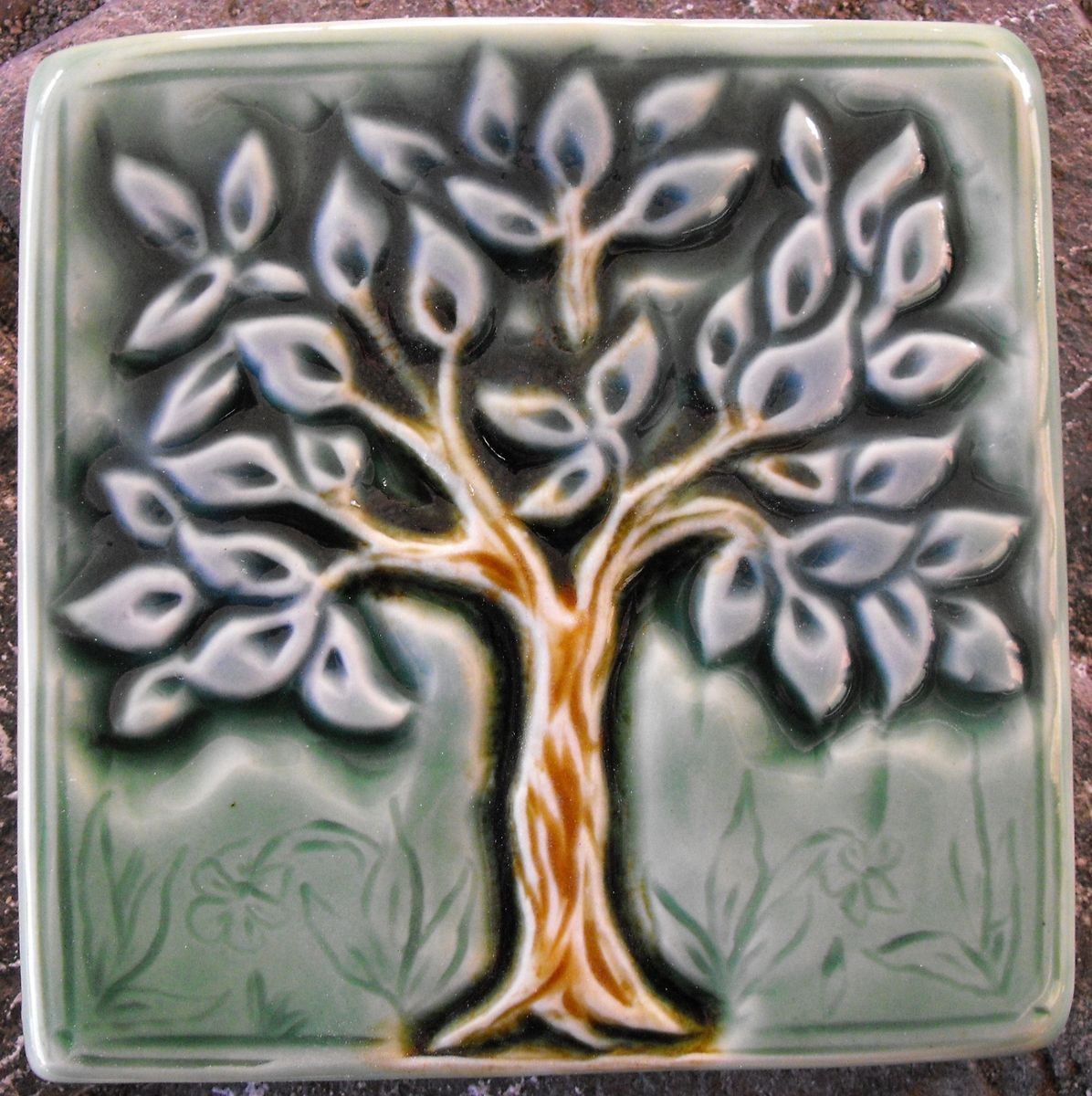 Hand Crafted Medieval Tree Tile By Verdant Tile