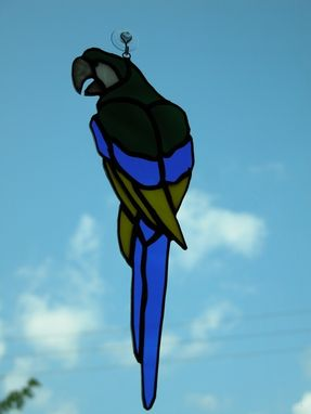 Custom Made Parrot Suncatcher (Green, Yellow, Blue)