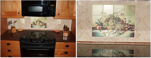Custom Made Custom Kitchen Tile Mural