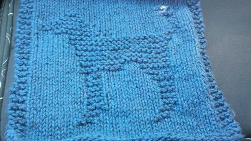 Custom Made Blue Knitted Dog Cotton Cloth For Bathroom, Kitchen, And More